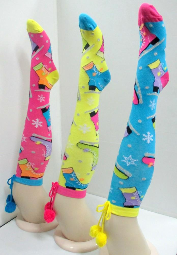 77db82a35c9 shining fancy knee high socks with pom pom design FY20151126-14